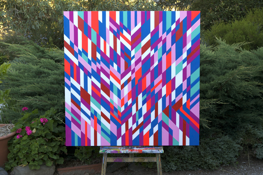 pink one, 2011, acrylic on canvas 122cm x 122cm