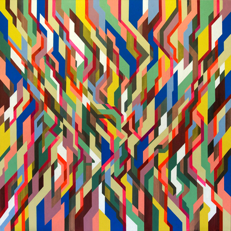 Tempo / Value, 190cm x 190cm, acrylic on canvas, 2008