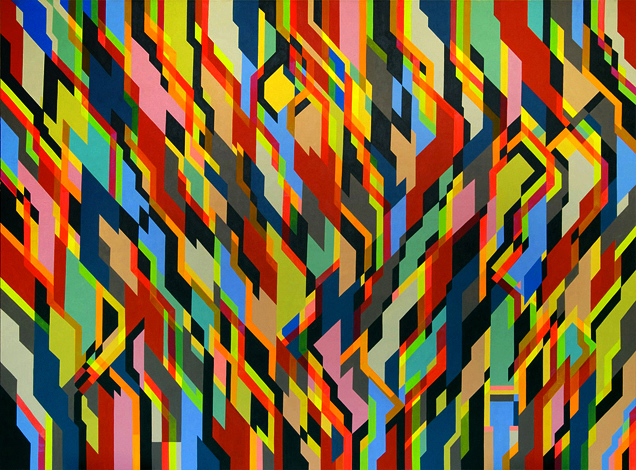 Welcome Plastics, 230cm x 170cm, acrylic on canvas, 2009