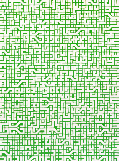 circuit board GREEN, 90cm x 120cm, acrylic on board, 2009